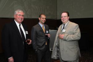 Ed Hogan Chair of LH, Matt Cleveland, LHF Board and Guest